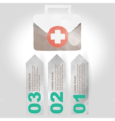 Label set with medical infographic steps vector