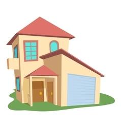 Modern house icon cartoon style vector