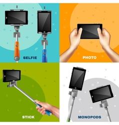 Monopod selfie design concept vector