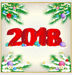 new year background with 2018 vector image