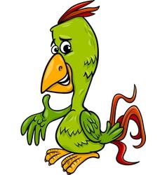 parrot bird cartoon vector image