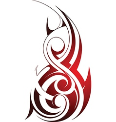 Tribal fire tattoo vector image vector image