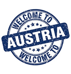 welcome to Austria vector image vector image