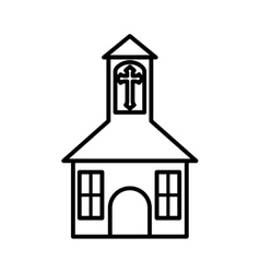 Church building religion belief icon vector