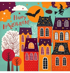 Halloween holiday card vector