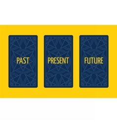 Three card tarot spread past present and future vector