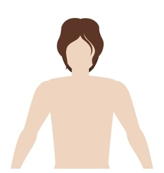 Half body man with full body vector