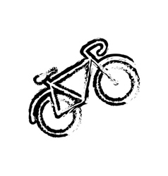 Isolated vintage bike vector image