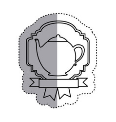 sticker shading silhouette border heraldic vector image