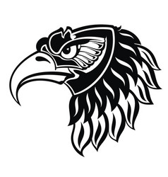 eagle portait tattoo vector image
