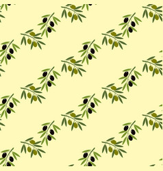 olive branch seamless pattern vector image