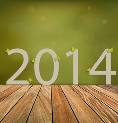 Happy new year 2014 celebration greeting card vector image