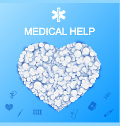 Abstract medical help template vector