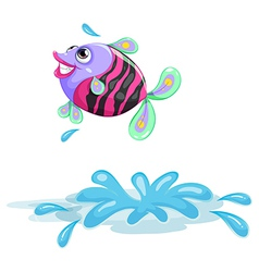 A colourful fish vector image