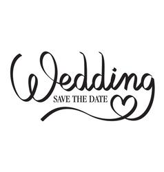 wedding hand lettering vector image