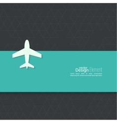 Icon airplane and banner vector