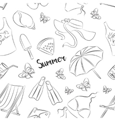 Pattern of summer symbols vector