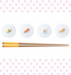 sushi menu template vector image