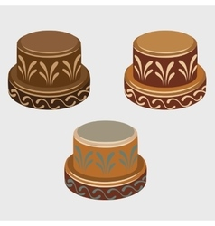 African symbols reels three icons vector image