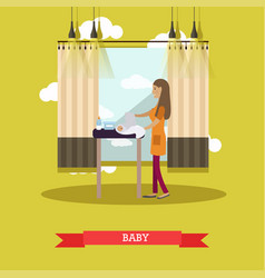 baby concept in flat style vector image vector image