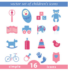 baby icon collection vector image