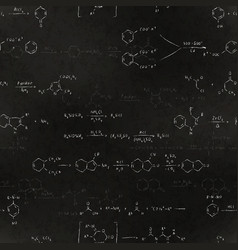 Basic chemical reaction equations and formulas vector