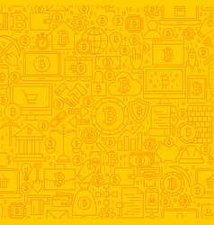 Bitcoin yellow line tile pattern vector