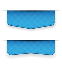 Blue ribbon set vector image vector image
