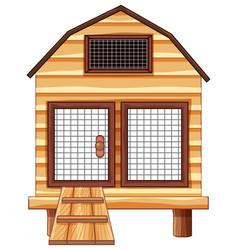 Chicken coop made of wood vector