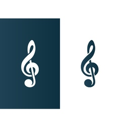 Clef Music symbol Logo icon business - isolated vector image vector image