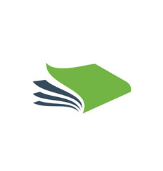 Creative open book logo vector