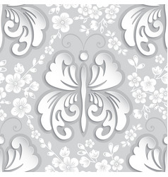 Floral seamless pattern element vector