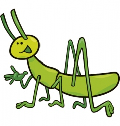 funny grasshopper vector image vector image