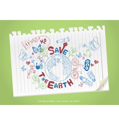 Green world drawing concept vector image vector image