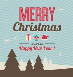 greeting card Merry Christmas and Happy New Year vector image