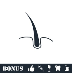 Hair icon flat vector