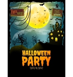 Halloween party poster eps 10 vector