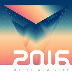 Happy new year 2016 creative greeting card design vector