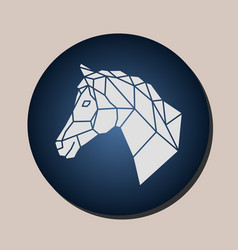 horse geometric logo in a circle vector image