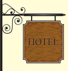 Hotelski znak DRVO vector image vector image