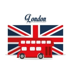 Isolated Bus and flag design vector image vector image