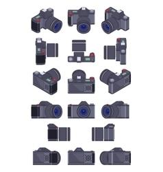 Isometric photo camera vector