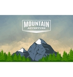 Landscape with mountain peak 3 vector