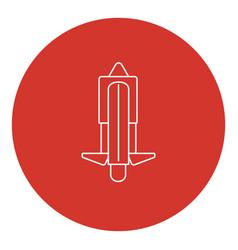 line art style unicycle icon vector image
