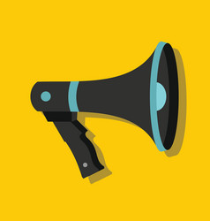 Megaphone in flat style with shadow vector