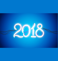 neon sign 2018 vector image vector image