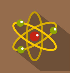 nucleus and orbiting electrons icon flat style vector image