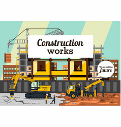 on the theme of a construction vector image