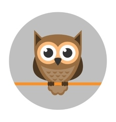 Owl icon flat vector image vector image