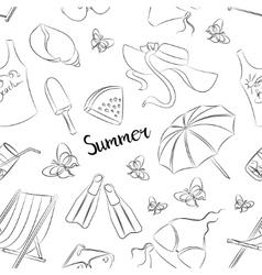 Pattern of summer symbols vector image vector image